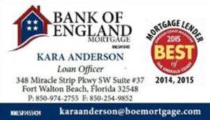 Bank of England Mortgage Kara Anderson  850-974-2755