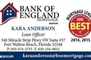 Bank of England Mortgage Kara Anderson  850-974-2755