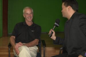 SIDEWALKS host Richard R. Lee interviews actor Jack Stauffer
