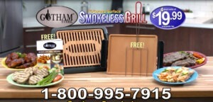Gotham Steel Smokeless Grill COMMERCIAL