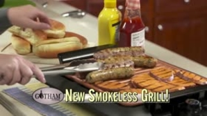 Smokeless  Grill Your Favorite Foods Year-Round– Virtually Smokeless