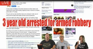 Nothing Scripted on 30aTV – Florida man  3 year old arrested for armed robbery
