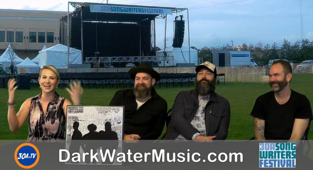 Backstage With Cortni and Dark Water members Kristian Bush Benji Shanks Brandon Bush
