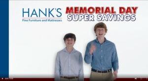 Hanks Fine Furniture Memorial Weekend Sale
