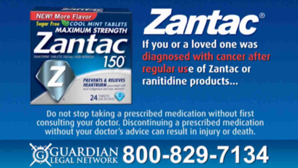 If you took Zantac and were diagnosed with some form of cancer  Call 1 800 829 7134