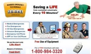 Life Alert Medical alert system 1-800-984-3320